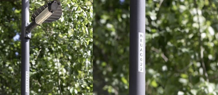 Étiquette éclairage public
