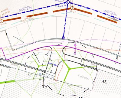 plan corps de rue simplifié carte